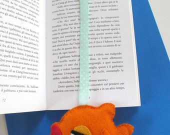 Bookmark goldfish, goldfish, goldfish kawaii felt, felted fish