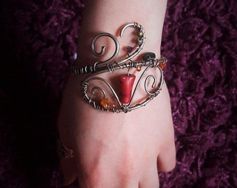 Vintage Bracelet ( silvered copper wire)