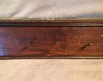 Antique Window Casing Coat/Hat Rack