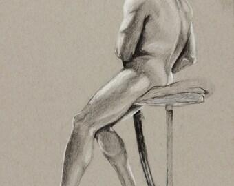 Samurai Drawing, Academic Sketch, Figure Study, Samurai Artwork, Charcoal Drawing, Professional Artwork, Professional Drawing, Pencil Sketch