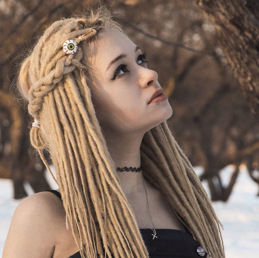Custom Blonde Synthetic Dreads Dreadlocks Double Or Single