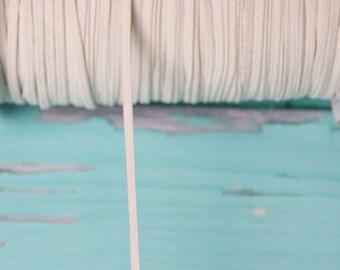 cream skinny FOE Elastic, elastic by the yard, fold over elastic, foldover elastic headband, cream elastic hair ties, wholesale elastic