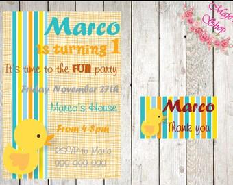 Yellow Birthday Invitation