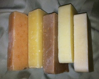 All natural handmade soap made with essential oils, NO fragrance oils
