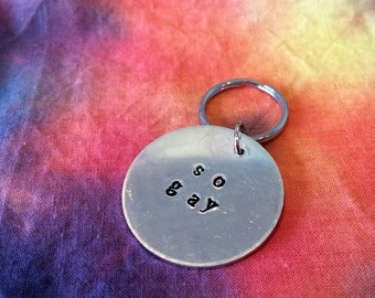 So Gay Keychain - So Gay - LGBT Keychain - LGBT Jewelry - Gay Pride Jewelry - Gay Pride Accessories