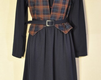 Women's vintage Navy Dress