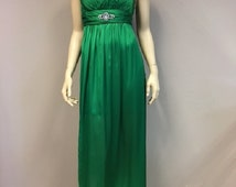 Summer Strapless Maxi Green Emerald Dress Cocktail Party Gown Wedding Guest Crystals Decoration