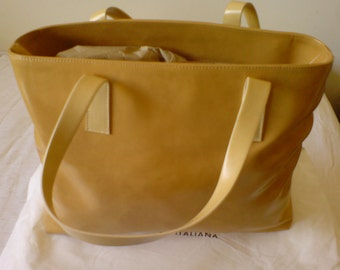 Large Ladies Tote Bag. Soft Tan/Sand. New Condition. Never Used
