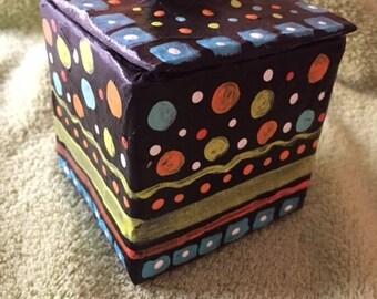 Handmade paper mache box