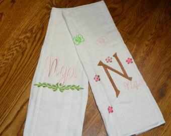 Baby Burp Cloths, Personalized Burp Cloths,