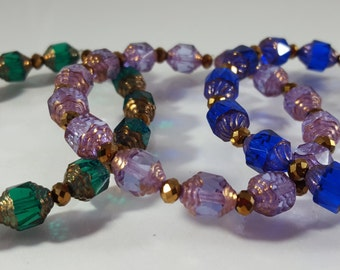Glass and Crystal Bracelets