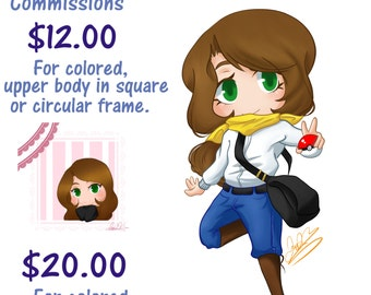 Chibi Commissions (Digital Only)