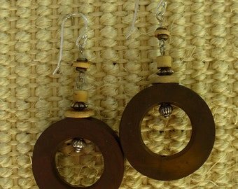 Coppery Resin Earrings