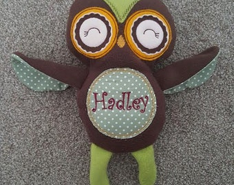 Personalised Owl Softie