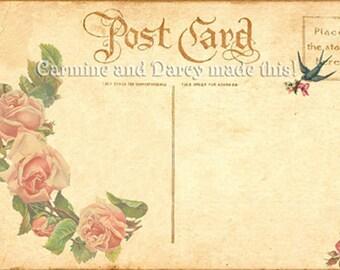 Shabby chic, Victorian, floral printable invitation, wedding, birthdays! Instant download