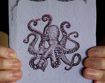 Light Purple Octopus Sketchbook