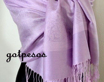 Pashmina Scarf Shawl for Women LILAC