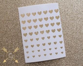 Hearts Glitter Vinyl Nail Decals