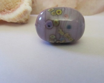 Large Purple Lampwork Glass Bead, Purple Lampwork Focal Bead for Jewelry Making, Purple Glass Bead, Artisan Lampwork