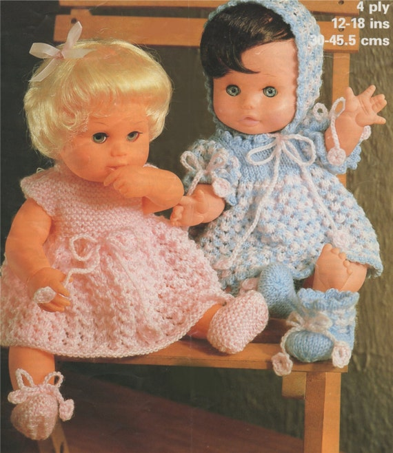 Dolls Clothes Pdf Knitting Pattern 12 14 16 And 18 Inch