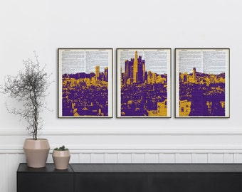 Los Angeles Wall Art lakers wall art | etsy