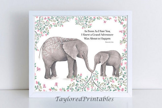 Inspirational Animal Baby Elephants Quotes Winnie The Pooh