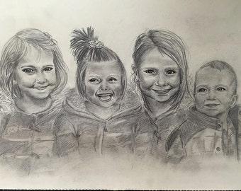 "9""x12"" Sketch Portraits / Realistic Drawings"