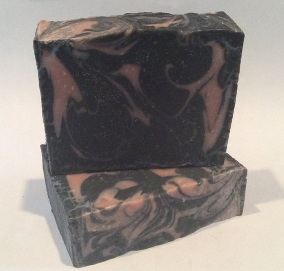 Activated Charcoal And Rose Clay Facial Soap By PBsSoapWorks
