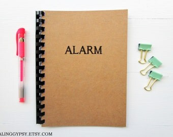 JOURNALING GYPSY-ALARM- One Word Art- Thought- Journal