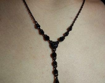Dark Blue Teardrop Necklace