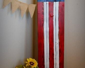 Long American Flag Wall Decor
