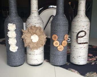 Love Wine Bottle Decor