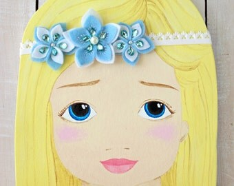 Baby girl headband, Flower baby headband, Felt headband, Felt flower headband