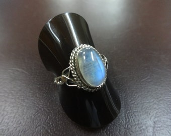 Classic 925 Sterling Silver Moonstone Ring