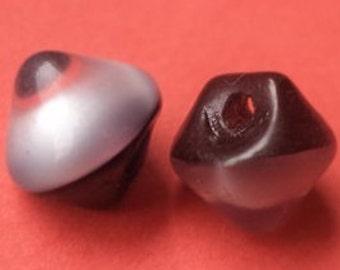 Button glass 16 glass buttons black grey 9 mm (1024)
