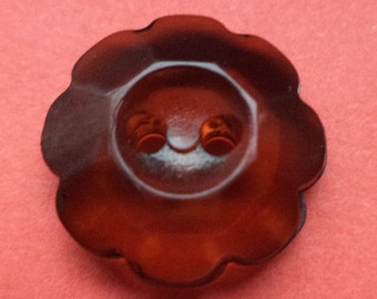 10 buttons 16mm dark brown (3755) Brown button