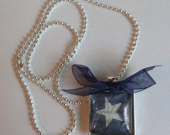 Blue Star Pendant Necklace