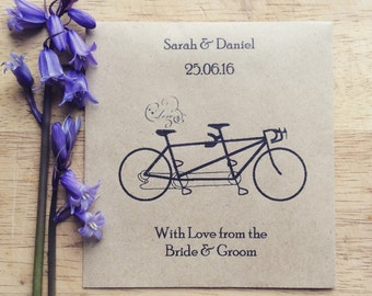 Wildflower Seed Favours Tandem Bicycle
