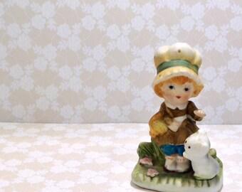 Homco Vintage Kitschy Girl Figurine
