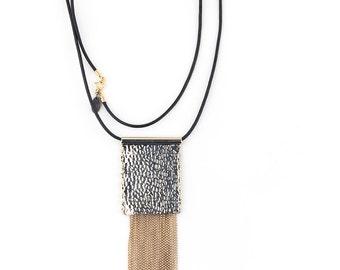 SPRING RAIN Bronze Beaded Necklace