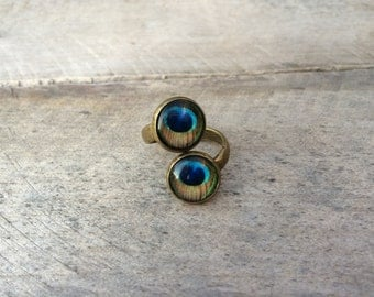 Ring, glass cabochons!