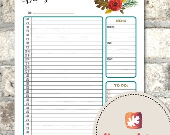 Printable Daily Schedule - The Four Seasons Collection - Homeschool - Organizer - Planner