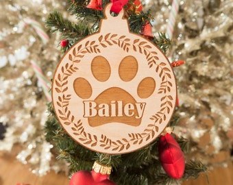 Personalized Dog Christmas Ornament - Dog Lover Gift - Personalized Pet Ornaments - Pet Christmas Ornaments - Dog Ornament - Dog Christmas