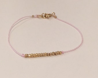 Dainty 14k Gold Plated Seed Bead Bracelet