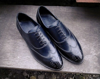Men's Oxfords Black Shoes, Men's Shoes, Leather Shoes, Handmade Shoes