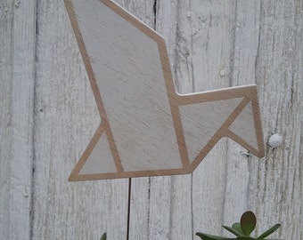 Wood decor Origami - bird casserole