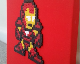 Iron Man 8 bit Pixel Art Canvas