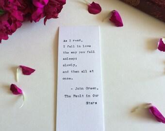 Type Writer Bookmark: John Green