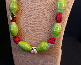 Beaded Fabric Necklaces