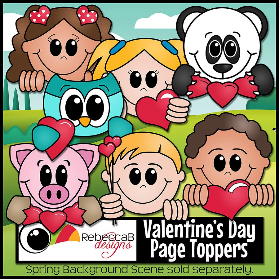 valentine u0026 39 s day clip art  valentine u0026 39 s day  page topper clip art  printables  page toppers  heart